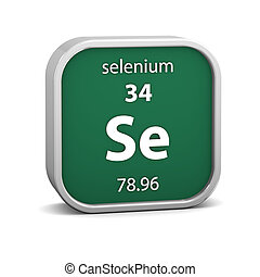 Selenium material sign - Selenium material on the periodic...