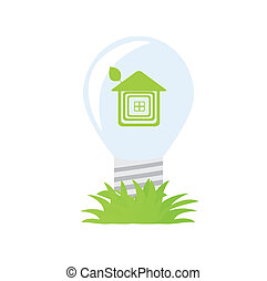 Ecology green bulb