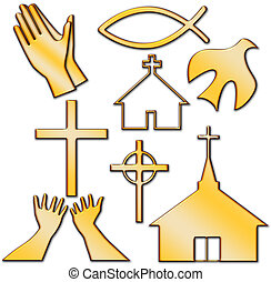 Church and Other Christian Symbol Set
