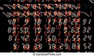Close-up of digital numbers sequence
