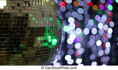 abstract funky discoball spinning with light effects and rays. perfect clip for club visuals or party/celebration