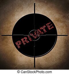 Private target concept