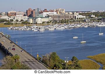 Charleston, South Carolina and Harbor - Charleston, South...