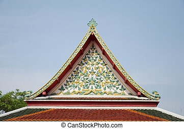 Temple beautiful at Wat Pho in Bangkok.