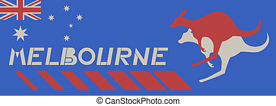 Australian Melbourne - Creative design of australian...