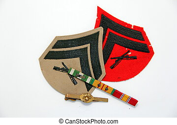 Marine Corps Chevrons - Marine Corps chevrons for dress...