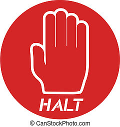 Halt icon - Creative design of halt icon