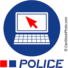 Police computer - Creative design of police computer