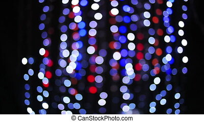 disco pattern made from blurred lights
