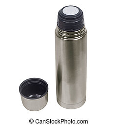 thermos isolated on white (clipping path)