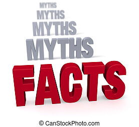 Focus On Facts - Sharp focus on large, shiny red FACTS in...