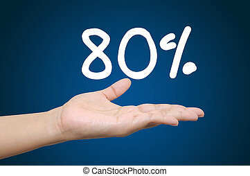 Hand holding the discount information - Hand holding the...