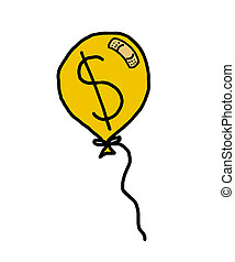 balloon with showing dollar  - balloon with showing dollar