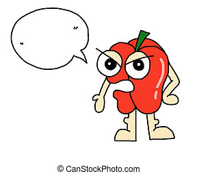 cartoon chili pepper