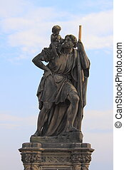 Saint Christopher statue in Charles bridge, Prague