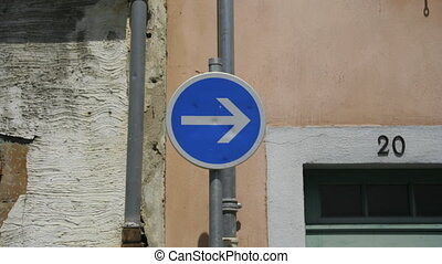 sequence of road signs from many different cities