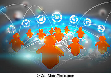 social media network communication