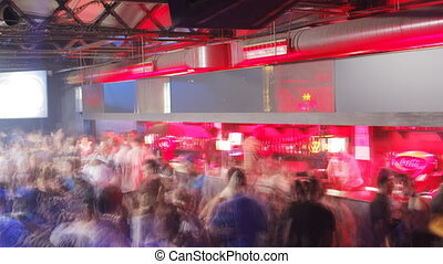 crowd dancing in barcelonas biggest club, Razzmatazz