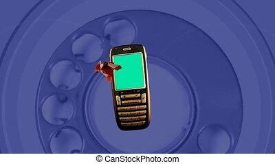 concept clip of retro mobile telephone