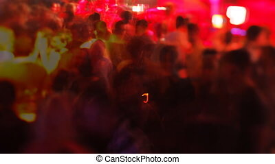 crowd dancing in barcelona's biggest club, Razzmatazz