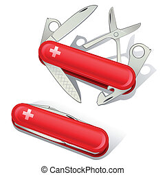 swiss knife tools icons