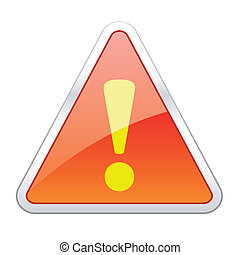 Hazard warning attention icons