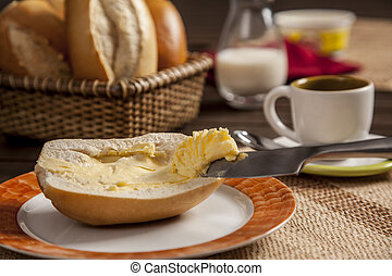 Brazilian Bread - Breakfast at Brazil with traditional...