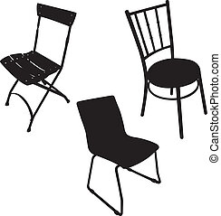 Chair vector - silhouette