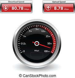 speed internet test icons - Illustration of speed internet...
