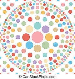 seamless pastel dot ball abstract background vector