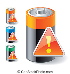notification low battery icons - Illustration of...