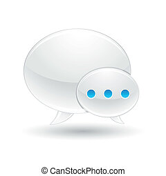 chat bubble icons - Illustration of chat bubble icons for...
