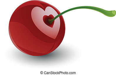 Cherry Love - Illustration of Cherry Love for your design...