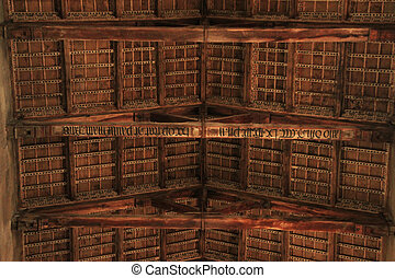 Ceiling in Cathedral of Viterbo - Cathedral of Viterbo...