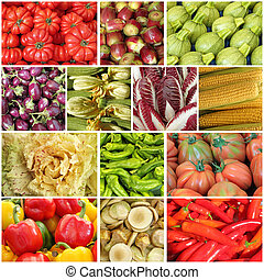 farmers market vegetable collage