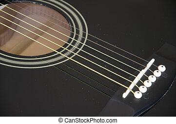 Guitar sound hole - A close shot of a guitar sound hole