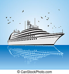 very realistic view of Cruise Ship - a very realistic view...