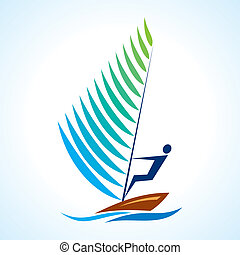 sailing symbol, sport serieswith boat