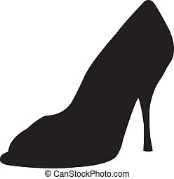 high heel shoes silhouette vector - This image is a vector...