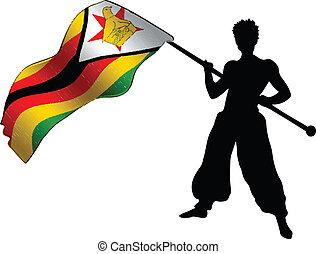 fan with flag-Zimbabwe cricket