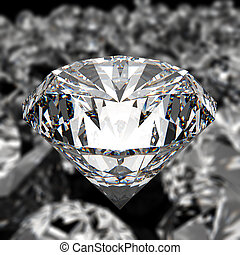diamonds on black surface background
