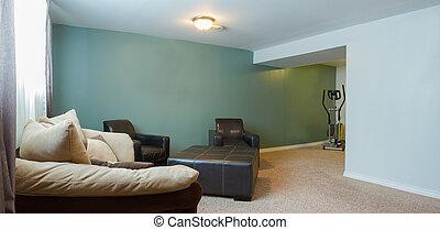 inre,  design, källarvåning