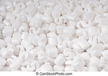 packing peanuts - closeup of packing peanuts as a texture...