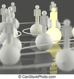 3d growing light human social network and leadership as...