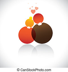 Boyfriend and girlfriendromeo, juliet iconsymbol-vector...