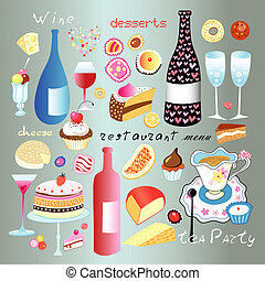 A set of food and drink - A lovely set of different food and...