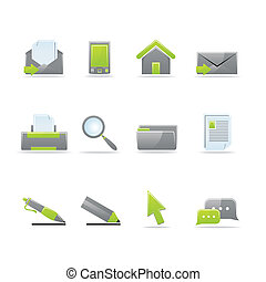 Glossy icon set - Set of 12 glossy web icons (see other in...