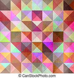 Interesting texture of colored triangles - Seamless textured...