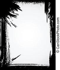 Grunge frame in black color.