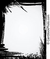 Grunge frame in black color